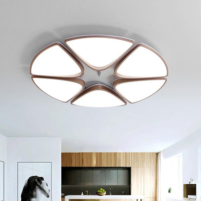 Скандинавский простой поверхностный современные светодиодные потолочные лампы с приглушаемой яркостью, лампы для гостиной, комнатные осв...