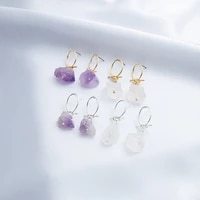 jaeeyin 2021 fashion gold color wire knot hand made colorful stone semi precious stud earrings gift for women new arrivals