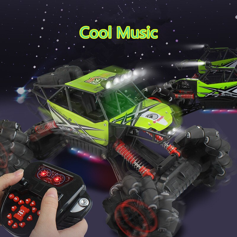 2019 New 2.4G 1:12 4WD Climbing Off-Road RC Car With Cool Music Buggy monster Drift car With 3pcs Battery 45 degree drift Car to