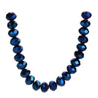 craft bracelet bulk spacer glass beads crystal 3 12mm findings making diy blue plated rondelle loose faceted wholesale jewelry