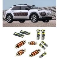 car accessories car led interior light kit for citroen c4 cactus 2014 2021 error free white 6000k super bright