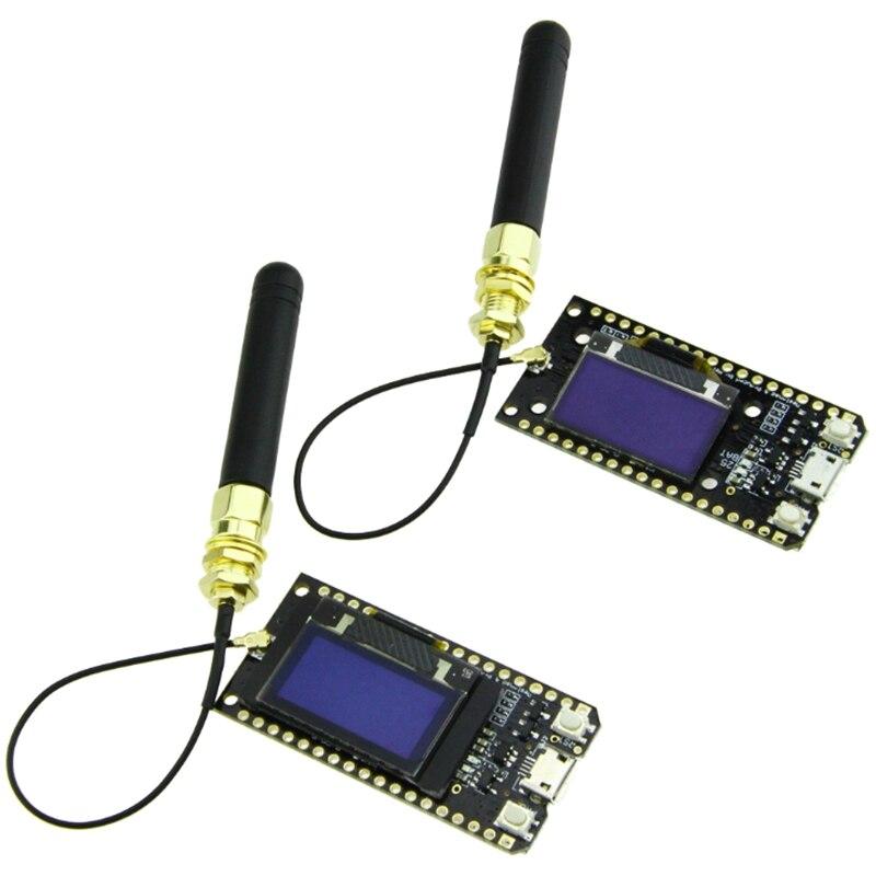 لورا-لوحة تطوير مع شاشة Oled ، بلوتوث ، واي فاي ، 868 ميجا هرتز SX1276 ESP32 ، 2 قطعة