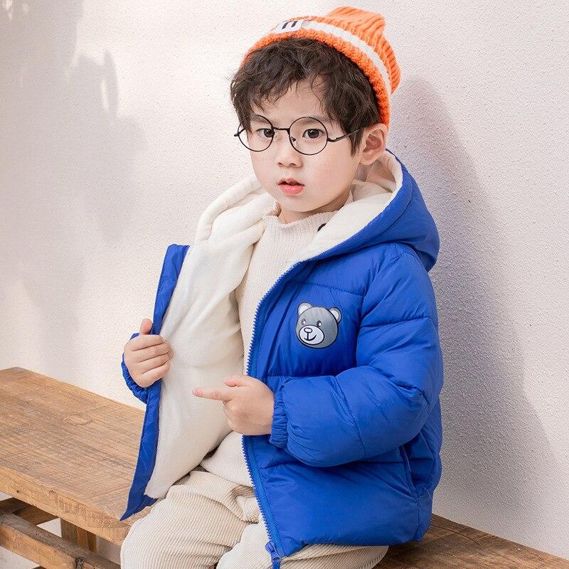 Children's Cotton Padded Jacket Plush Baby's Thickened Boys' Girls' Winter Coat