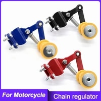 motorcycle chain tensioner adjuster wear resisting chain guide automatic regulator roller refit accessories
