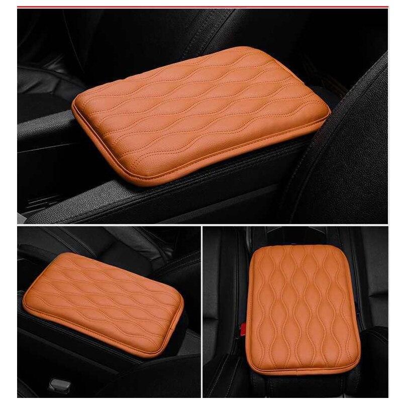 Кожаный чехол для автомобильного подлокотника, подушка для центрального подлокотника, аксессуары для украшения интерьера автомобиля
