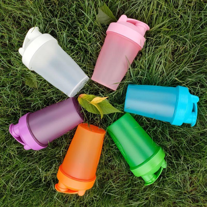 Botella de agua de plástico esmerilado, portátil, para deporte al aire libre,...