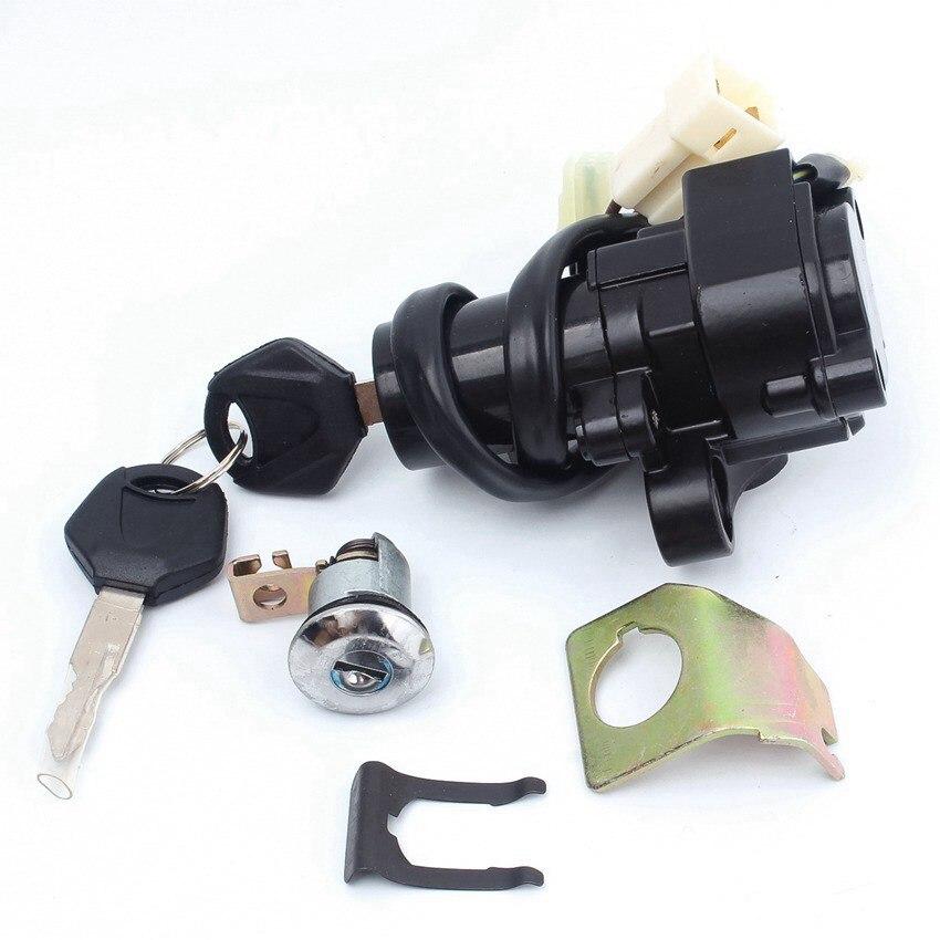 Motocicleta interruptor de encendido del cilindro de la cerradura clave para Yamaha YZF R1 07-11 R6/S 04 06-11 FZ6 04-10 FJR1300 01-05 Accesorios