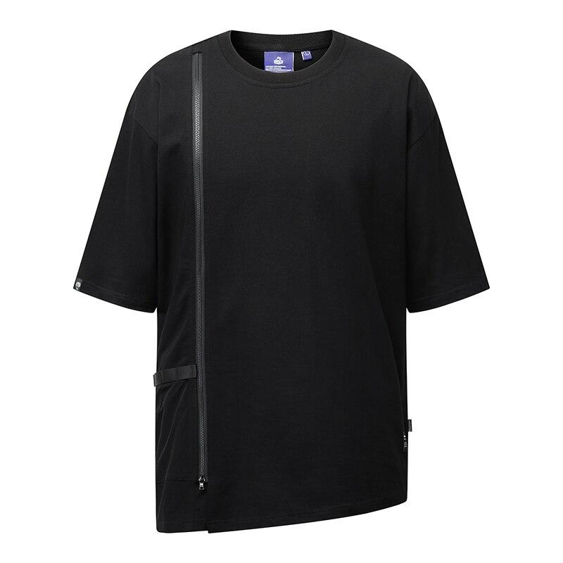 WHYWORKS الصيف تيشوير تي شيرت أسود وهمية قطعتين قميص Harajuku الشارع الشهير موضة وهمية