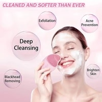 ultrasonic waterproof electric facial cleansing brush sonic face cleanser brush washing sonic facial cleanser heated massager