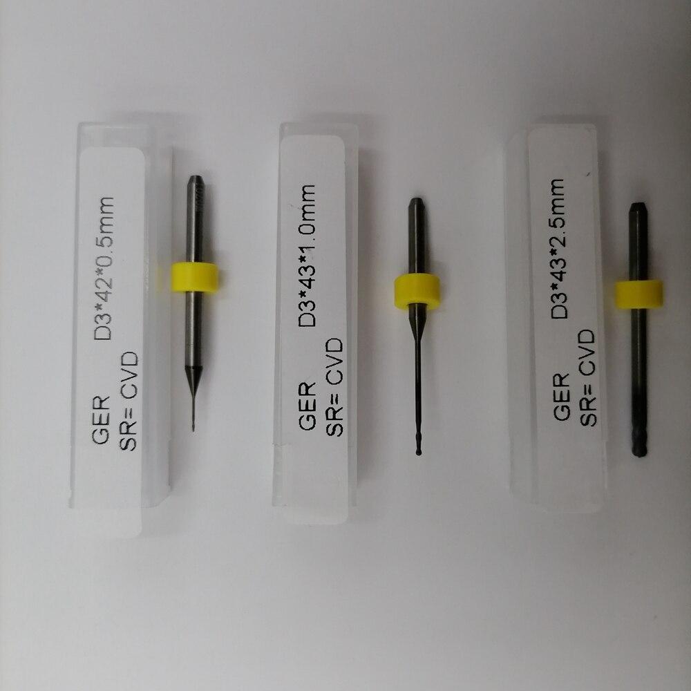 Sirona inLab MCX5 الماس المغلفة (الأمراض القلبية الوعائية) الأسنان أدوات الطحن كاد كام انفجار الأزيز 800-1000 وحدات Endmills ل مختبر الأسنان استخدام