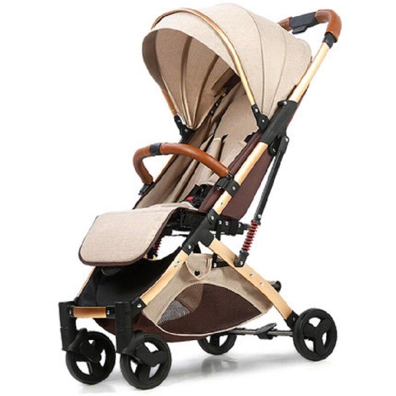 عربة أطفال يمكن أن تجلس مستلقية خفيفة الوزن ذات اتجاهين عالية المناظر الطبيعية قابلة للطي عربة أطفال حديثي الولادة تمتص الصدمات