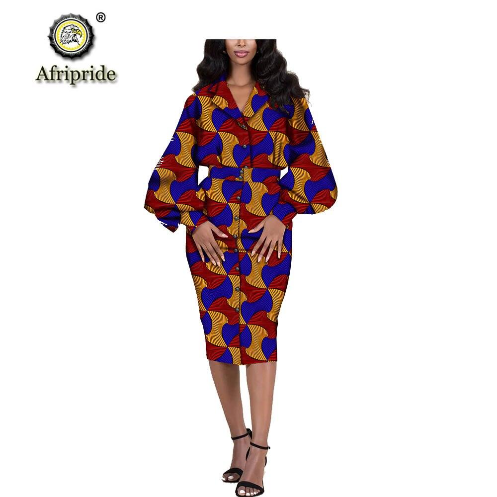 Camisa feminina vestido africano dashiki impresso ancara outwear outwear outwear outwear roupas formal usar cera casacos de manga longa afripride s1925111