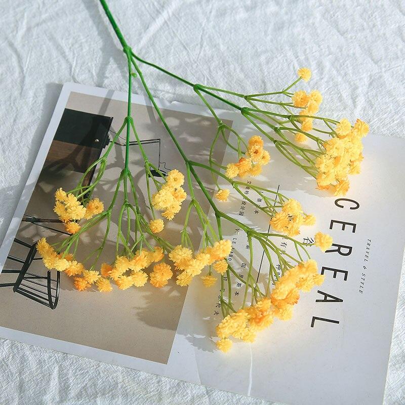 CHENCHENG 1 pieza 66 cm de respiración de los bebés falsa flor gypsophila bebés respiración boda ramo plástico casa decoración de otoño