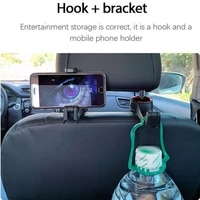 hook with phone holder on the front seat of the car headrest hook on the headrest hanger auto interior accessories car parts