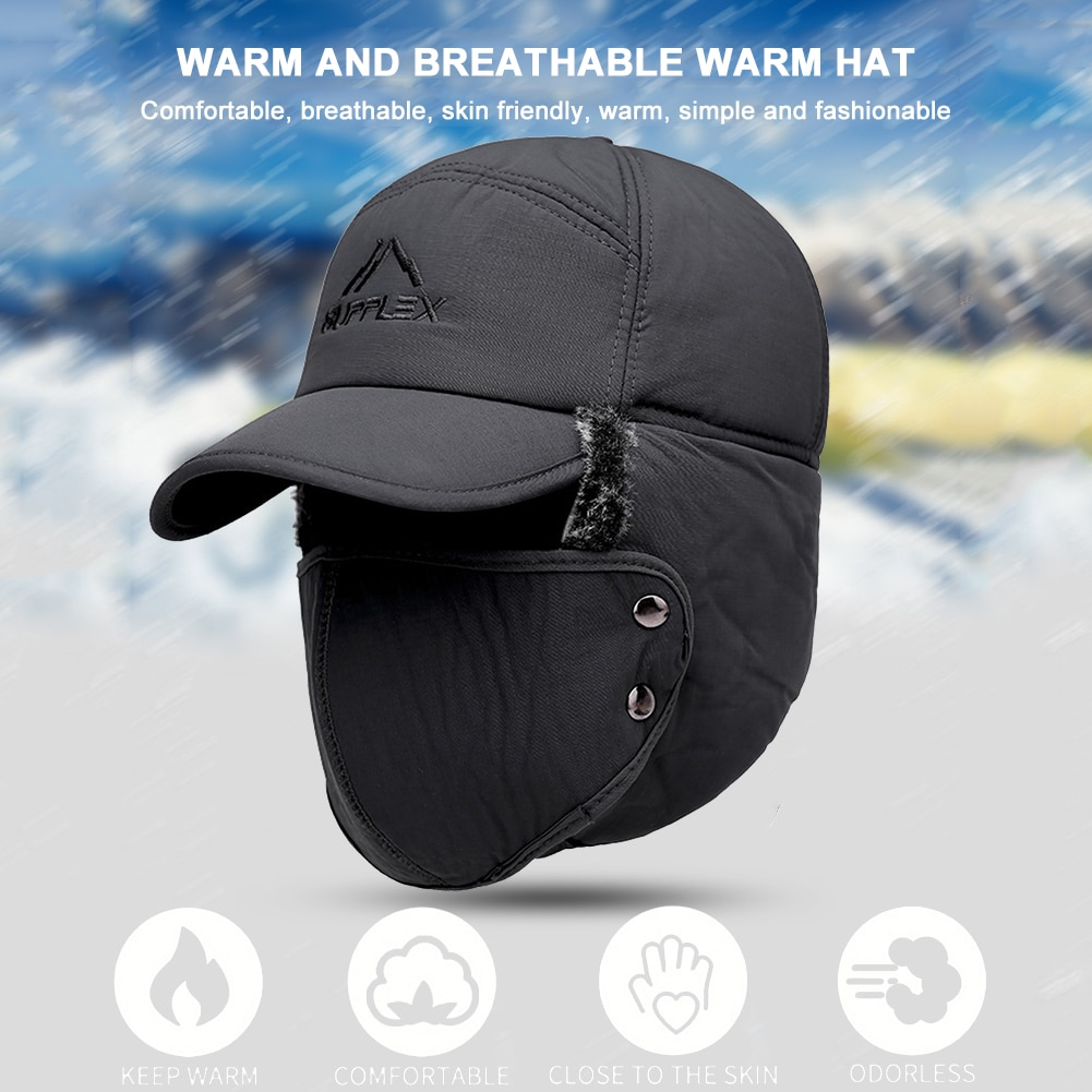 Winter Warm Hat Face Ear Protection Ski Cap Thicken Bomber Outdoor Cycle Biking Entertainment for Ou