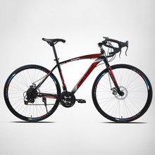 Vélo vélo de route 26 pouces 21 vitesse hommes et femmes voiture de sport étudiant vent cassé course sur route engrenage fixe solide en direct volant vélo