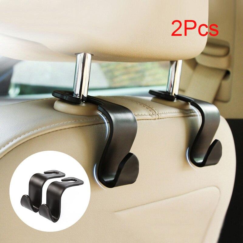 Oferta 2 uds coche Universal SUV colgador de reposacabezas de asiento trasero ganchos para bolsas de comestibles JLD