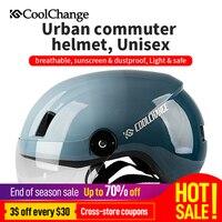 Велосипедный шлем CoolChange, унисекс, дышащий, со встроенными линзами