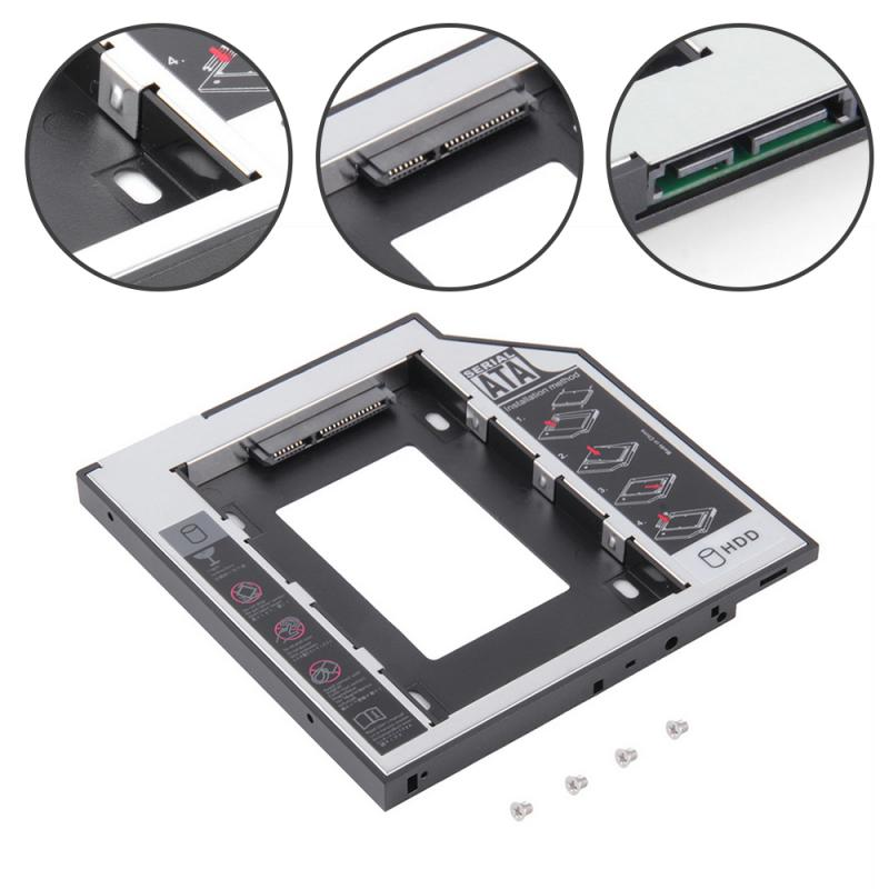 Universal SATA 2nd HDD SSD Hard Drive Caddy New 9.5mm For CD/DVD-ROM Optical Bay For HDD SATAII SDD