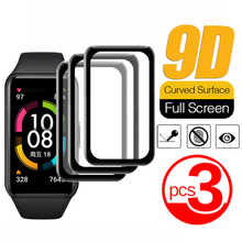 3pcs Full Curved Screen Protector For Huawei Band 6 Tempered Glass For Honor Band 6 Band6 Smart Watch Wristband Protective Film