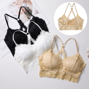 New Style Goblin Tube Top Lace Cocoa Non-Steel Ring Bra Underwear Women's-Push Up Sports Beauty Back Wrap-Around
