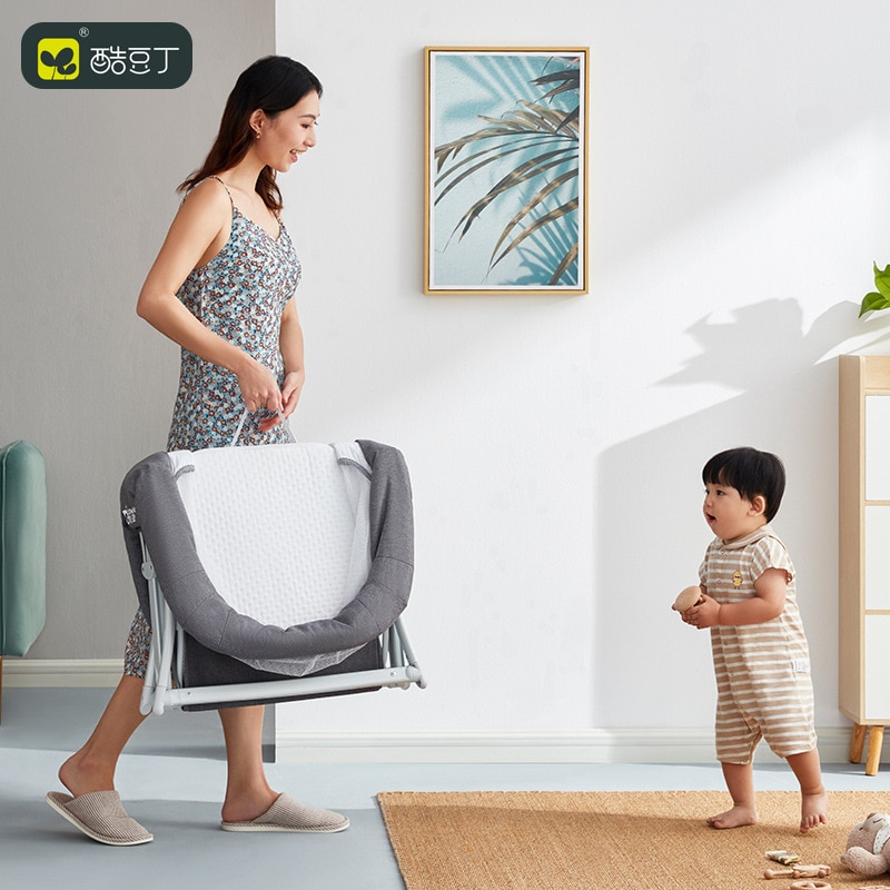 Cool Baby Baby Crib Movable Portable Baby Bed Folding Comfort Modern Simple Newborn Cradle Bed enlarge