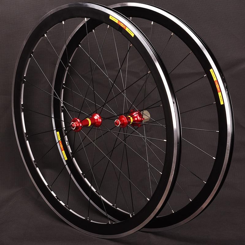 Bicycle wheelset Ultra light 700c 40mm Rims 19mm width V Brake Aluminium Wheelset Road Bicycle Bike Wheels 7/8/9/10/11S