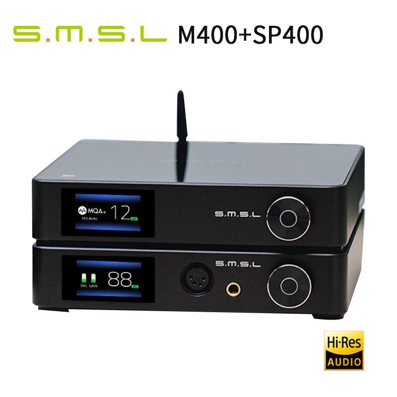 SMSL M400 MQA فك + SMSL SP400 كامل متوازن مضخم ضوت سماعات الأذن
