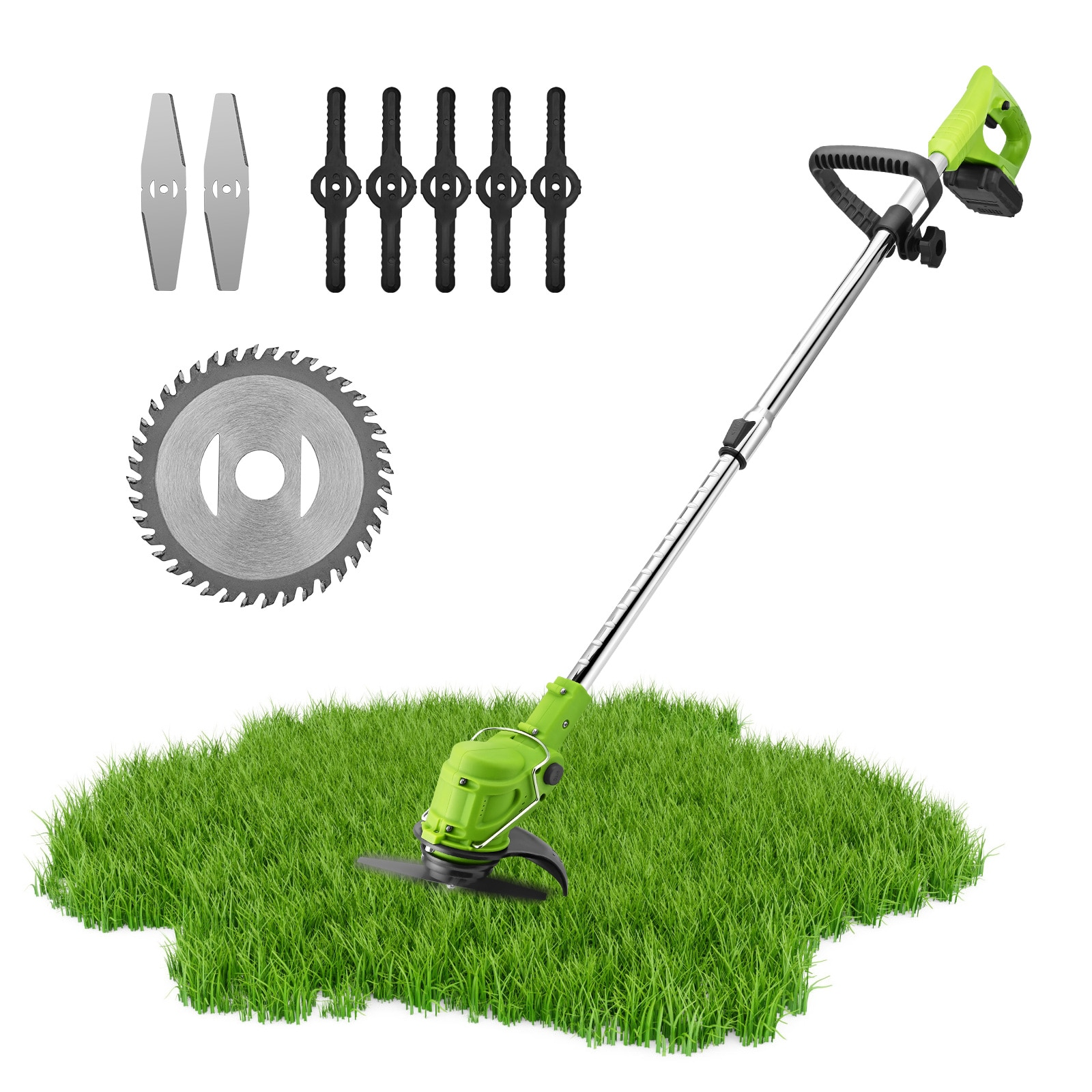 Cordless Grass Trimmer Brush Cutter Wireless Grass Trimmer Lawn Mower Garden Tools For Weed-Wacking With 21V Lithium-ion Battery
