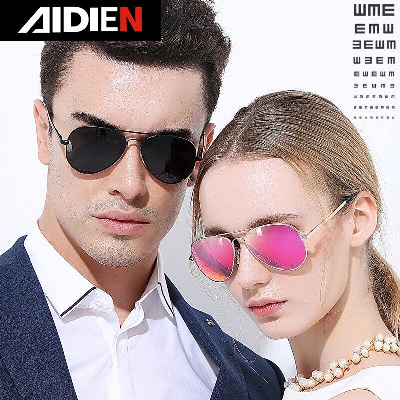 Men women prescription sunglasses female polarized aviation myopia glasses pink blue minus - diopter pilot driving glasses