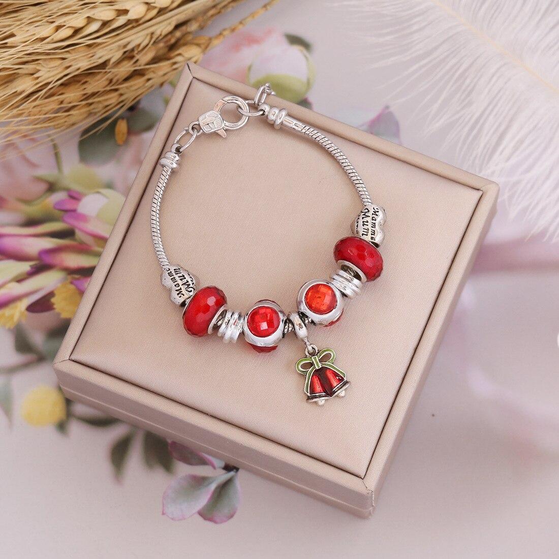 Рождественский браслет, модные персонализированные ювелирные изделия своими руками, новые трендовые ювелирные изделия для рук