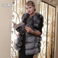 great pride in high quality real arctic fox fur coat premium soft natural silver real fur vest girl spring winter warm coat vest