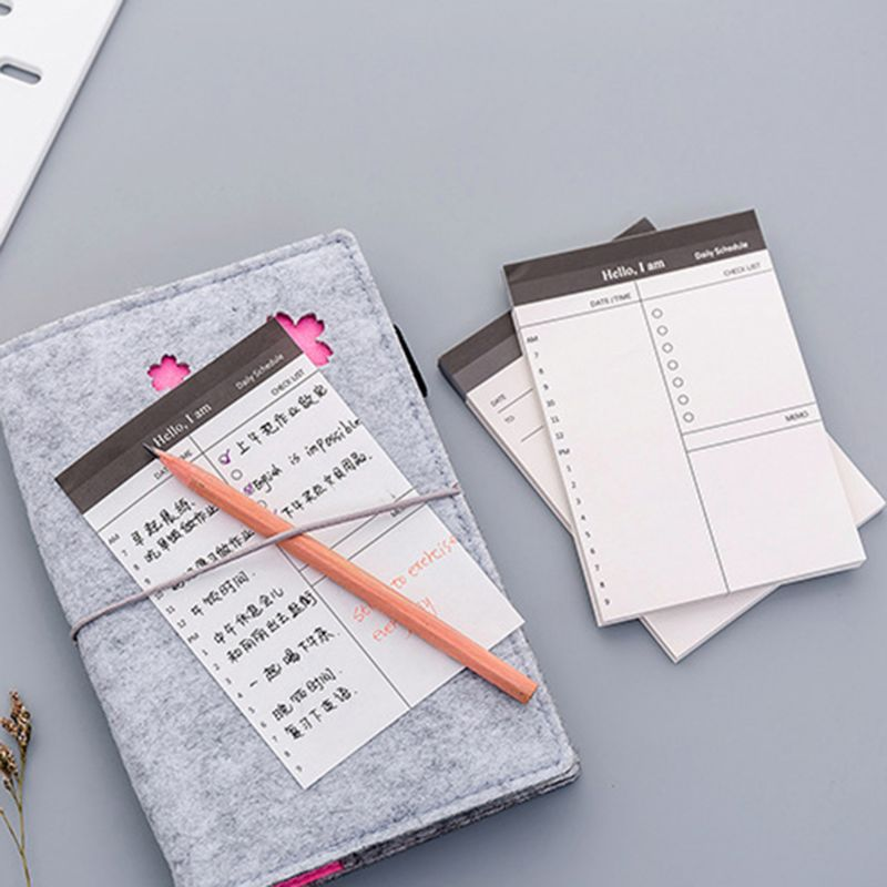 Sticky Notes 50 Sheers DIY Planner Memo Notes Notepad Desk Agenda Gift School Office Supplies T8DB cute lucky cat animal mini planner sticker notepad sticky notes school supplies material sticky memo agenda notes for student