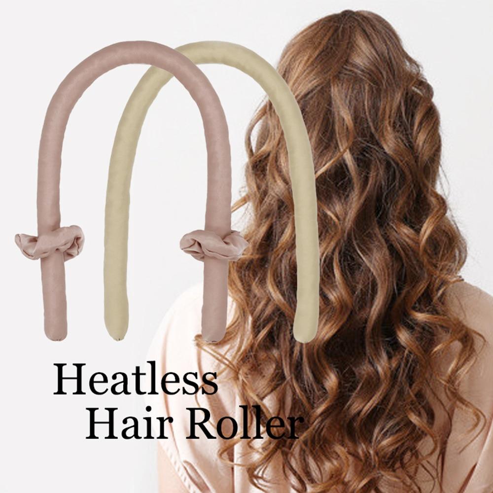 3/4pcs Heatless Curling Rod Headband Lazy Curler Set Soft Silk Ribbon Headband Wave Formers Hair Cur