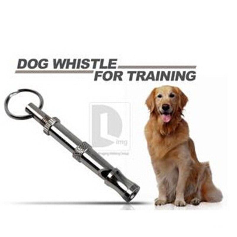 Silbato para perro cachorro de acero inoxidable, silbato para llavero para mascotas, entrenamiento para perros, productos para mascotas con sonido ultrasónico ajustable