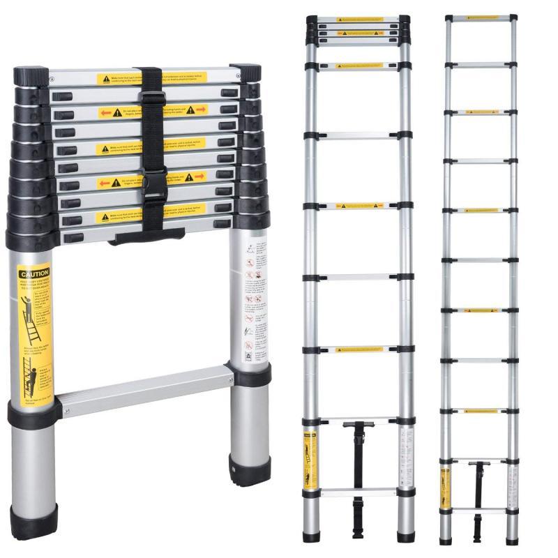 En131 14.5Ft4.4Mtelescoping складные лестницы алюминиевые многоцелевой бытовой утолщение выдвижная лестница