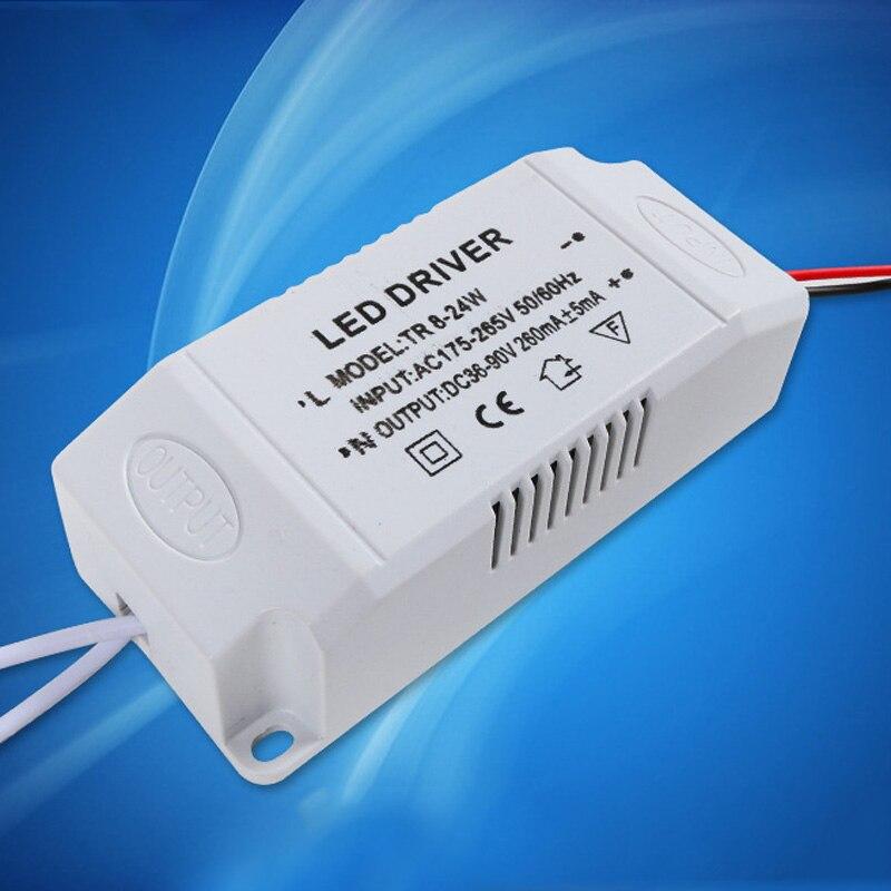 Transformador eletrônico do motorista do diodo emissor de luz para o adaptador da fonte de alimentação das luzes da tira do diodo emissor de luz 8-24 w/36-50 w transformadores da iluminação da fonte de alimentação