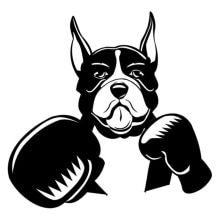 Car Stickers Decor Motorcycle Decals Boxing Boxer Pet Dog Decorative Accessories Creative Sunscreen
