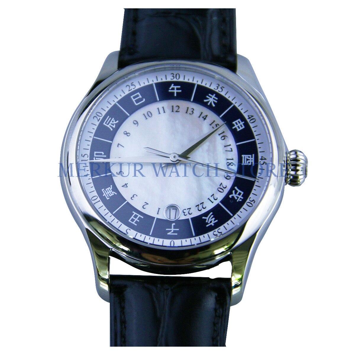 BOND TianJin St2130 movimiento hombres calendario mecánico reloj de pulsera vestido
