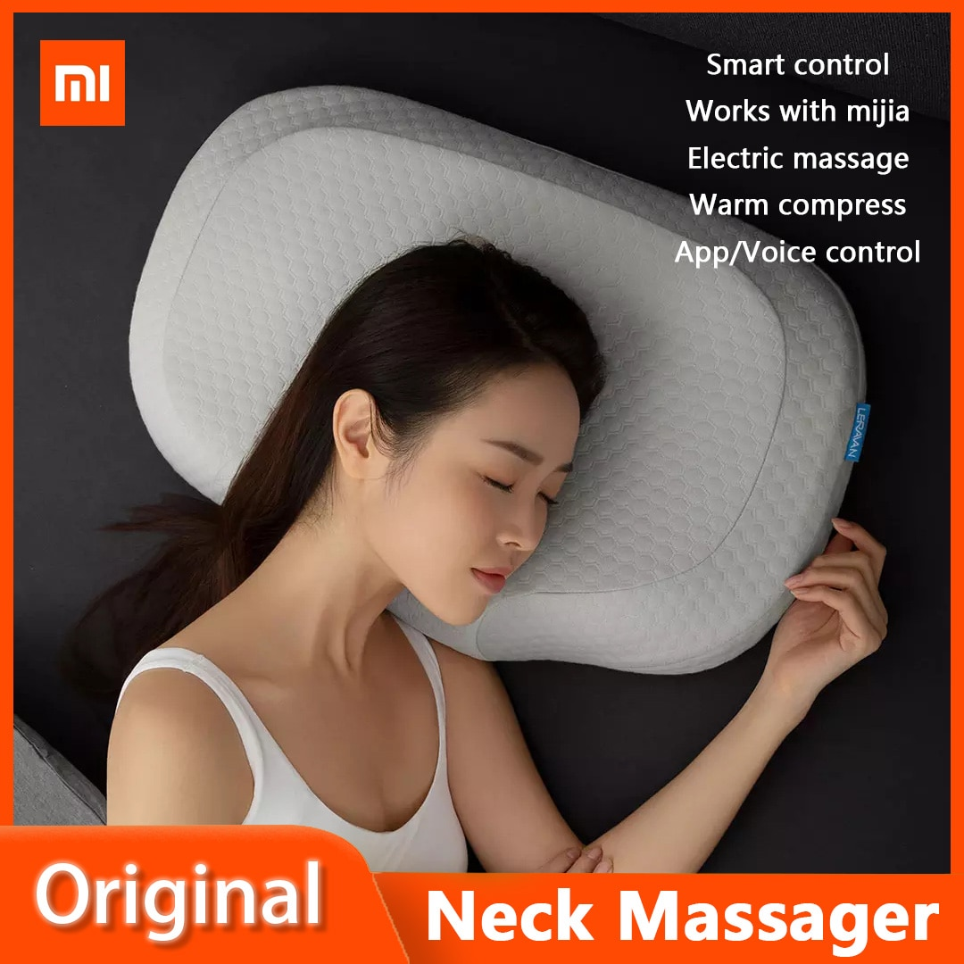 Xiaomi LERAVAN-مدلك رقبة ذكي AI ، وسادة هوائية ، تدليك كهربائي ، وسادة نوم ، منبه ، يعمل مع تطبيق Mijia والتحكم الصوتي ، 2021