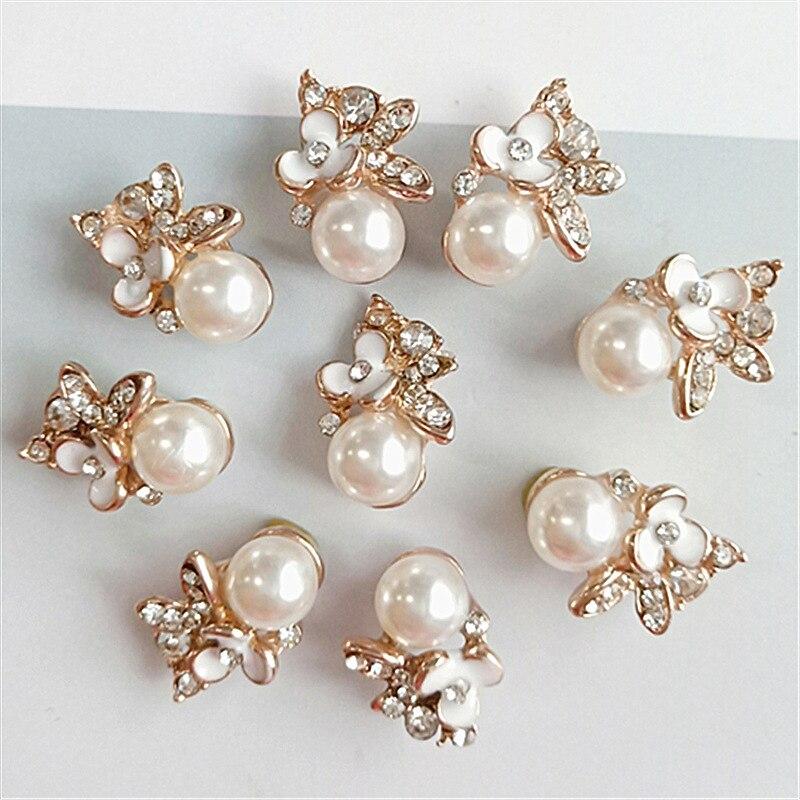 Botones de diamantes de imitación para costura decorativa, accesorios de joyería para...