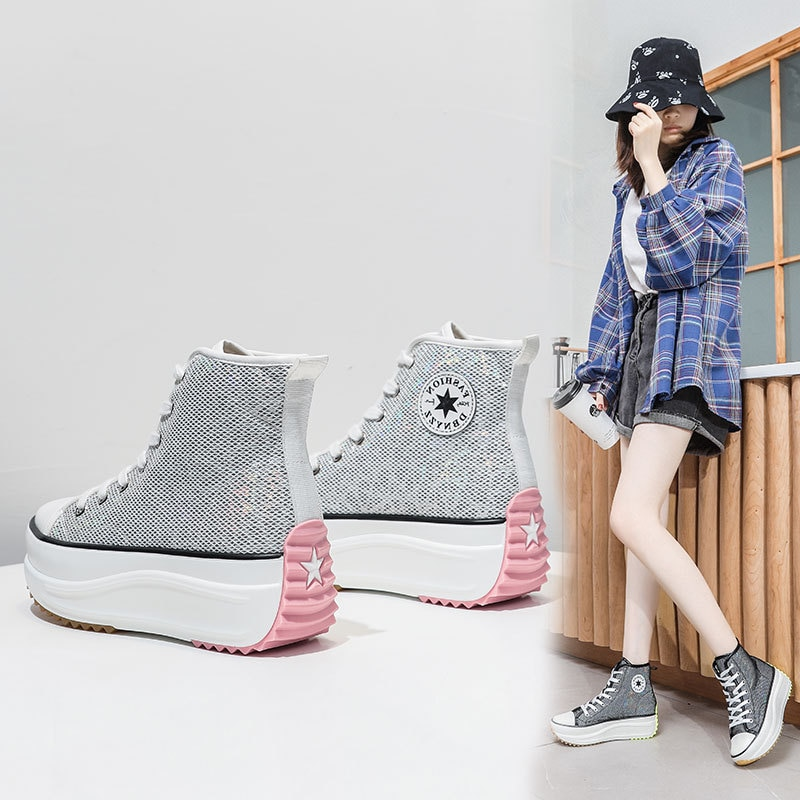 Womens Shoes Women Sneakers Female High Top Brand Ladies Lady Casual Luxury Designer Chunky Platform