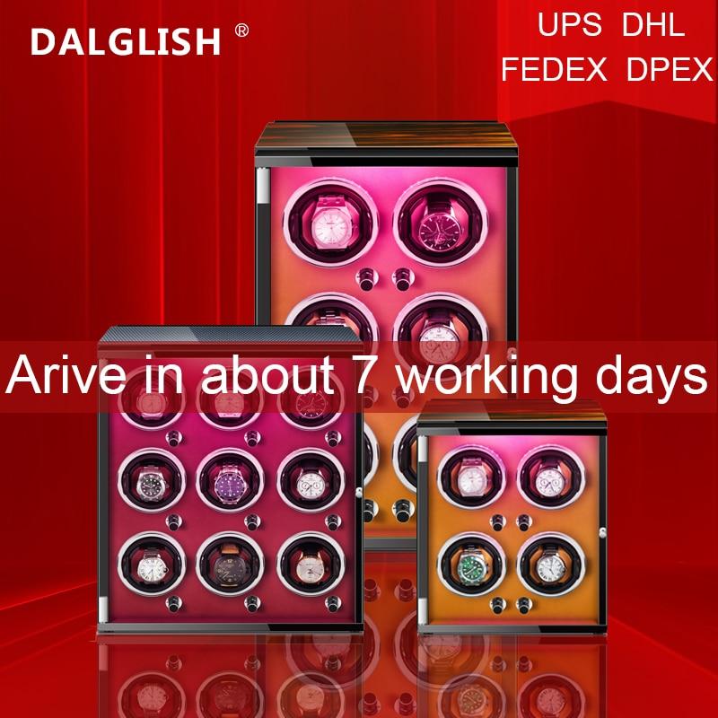 Automatic Watch Winder Box Uhrenbeweger Mechanical Display 4/6/9 Slots Male watch Automatic