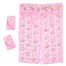 1pc décoratif porte rideau ménage rideau suspendu dentelle tapisserie Anti-moustique rideau pour maison chambre (rose)