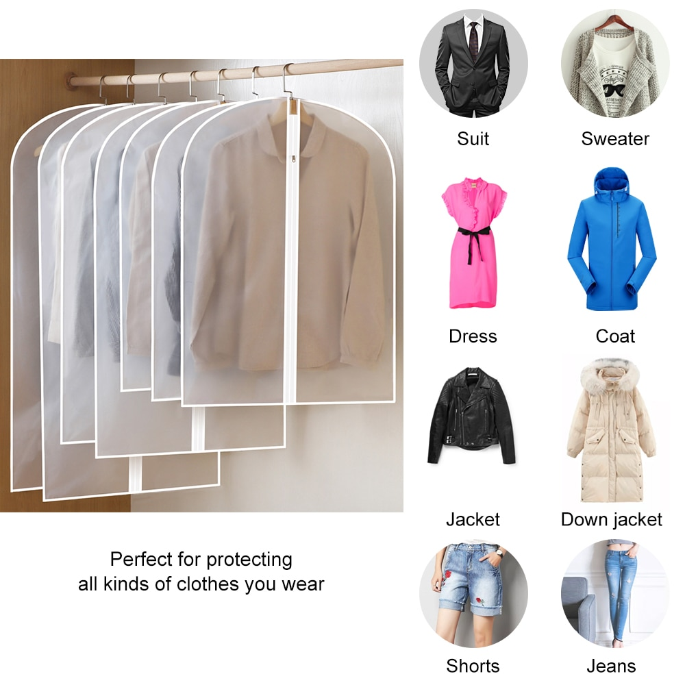 Garderobe Hängende Kleidung Staub Abdeckung Anzug Jacke Staub Tasche Haushalts Kleidung Lagerung Tasche Abdeckung Lagerung Tasche Staub Schutz
