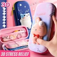 3d pencil case eva storage box lovely pink cartoon pen bag for school girl kawaii stationery gift pouch cute school supplies