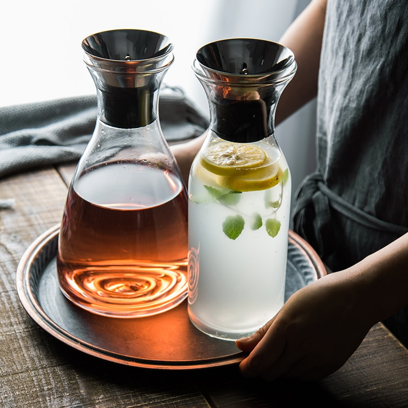 دائم إبريق الشاي الباردة غلاية عصير مقاومة للحرارة الصحة الزجاج المغلي إبريق ماء الشمال الفاكهة Carafe En Verre درينكوير DK50CK