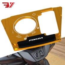 Motocicleta para Honda Forza300 250 125 MF13 2018-2020 accesorios FORZA Logo interruptor cubierta de cerradura de puerta eléctrica Protector