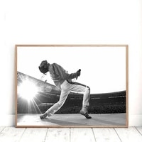 freddie mercury vintage photography posters and prints rock music star canvas painting wall art pictures for living room decor