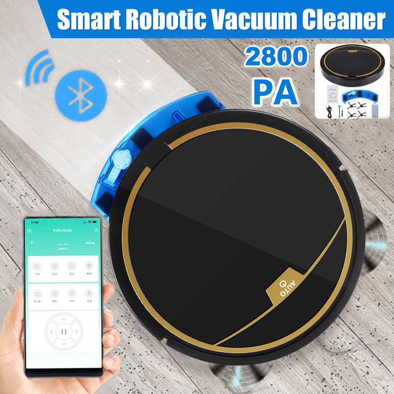 Фото - 2800PA Robot Vacuum Cleaner Smart APP Remote Control Wireless Cleaning Machine Floor Sweeping Wet Dry Vacuum cleaner For Home xiaomi mijia 1s mi robot vacuum cleaner for home automatic sweeping charge smart wifi app remote control dust sterilize rc cleaner